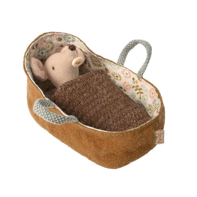 Mouse Baby in Carrycot