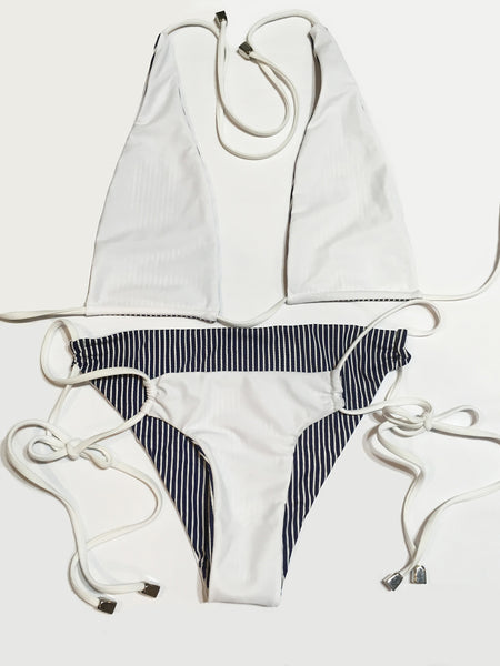 Navy Stripes Bottom- Reversible!
