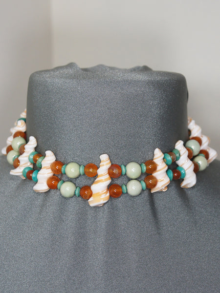 Necklace- Glass Shells