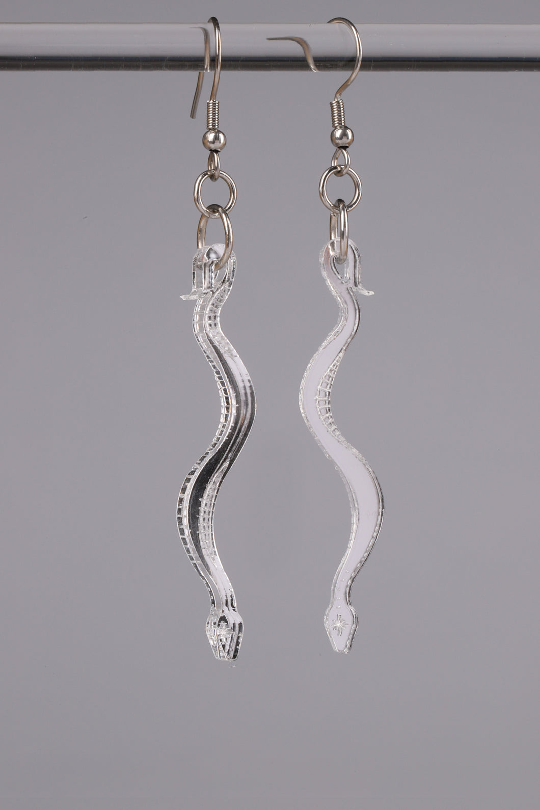 Small Boa Earrings - Silver