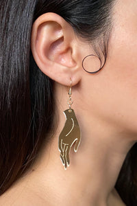 Large Hand Earrings - Champagne