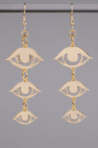 Small Eyes Earrings - Champagne