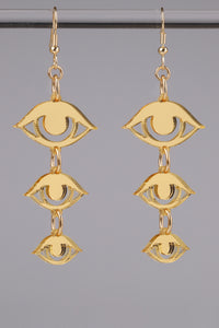 Small Eyes Earrings - Gold