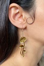 Load image into Gallery viewer, Small Shroom Earrings - Gold