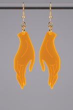 Load image into Gallery viewer, Large Hand Earrings - Neon Orange