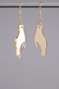 Small Hand Earrings - Champagne
