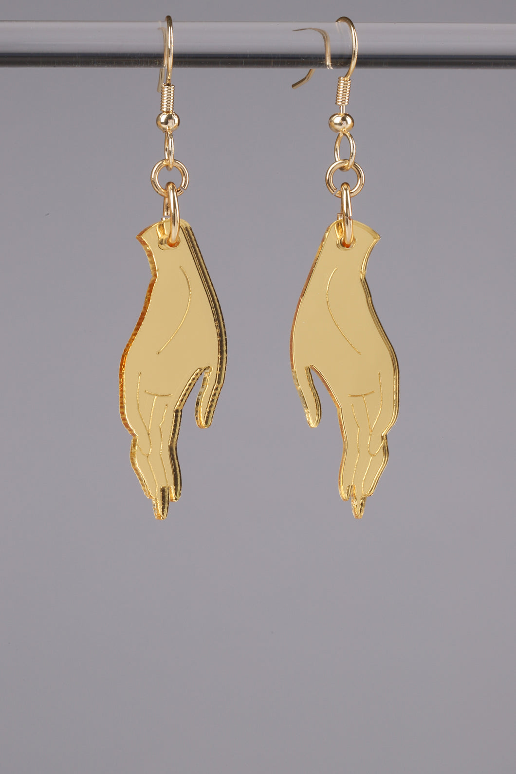 Small Hand Earrings - Gold
