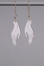 Load image into Gallery viewer, Small Hand Earrings - Silver