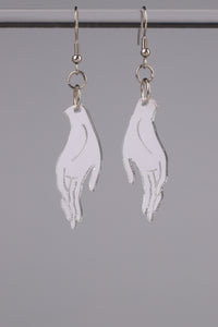 Small Hand Earrings - Silver