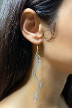 Load image into Gallery viewer, Large Boa Earrings - Light Blue