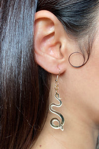 Small Serpentine Earrings - Champagne