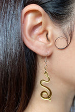 Load image into Gallery viewer, Small Serpentine Earrings - Gold