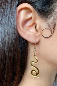 Small Serpentine Earrings - Gold
