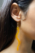 Load image into Gallery viewer, Large Boa Earrings - Neon Orange