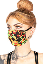 Load image into Gallery viewer, FACE MASK - NEON CHEETAH