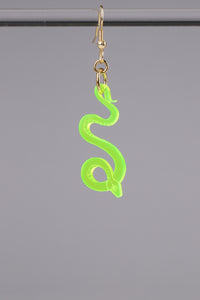 Small Serpentine Earring - Neon Green