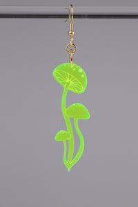 Small Shroom Earring - Neon Green