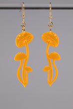 Load image into Gallery viewer, Small Shroom Earrings - Neon Orange