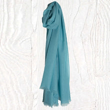 Load image into Gallery viewer, Candy Blue Thistledown Cashmere Stole