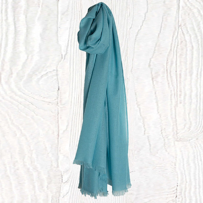 Candy Blue Thistledown Cashmere Stole