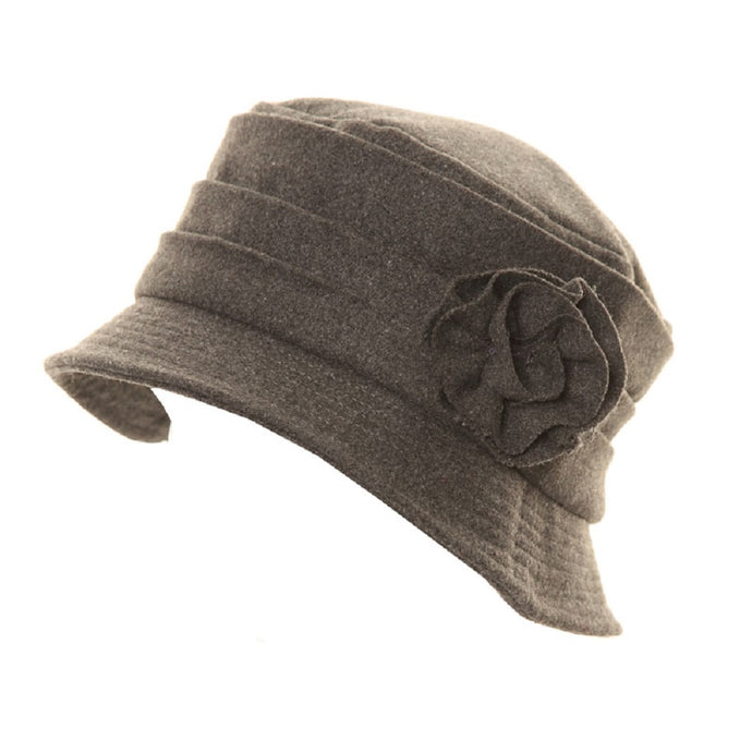 Crushable Wool Hat with Bow Grey - Scattee