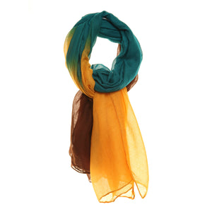 Yellow Green & Brown Scarf - Scattee