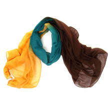 Load image into Gallery viewer, Yellow Green & Brown Scarf - Scattee