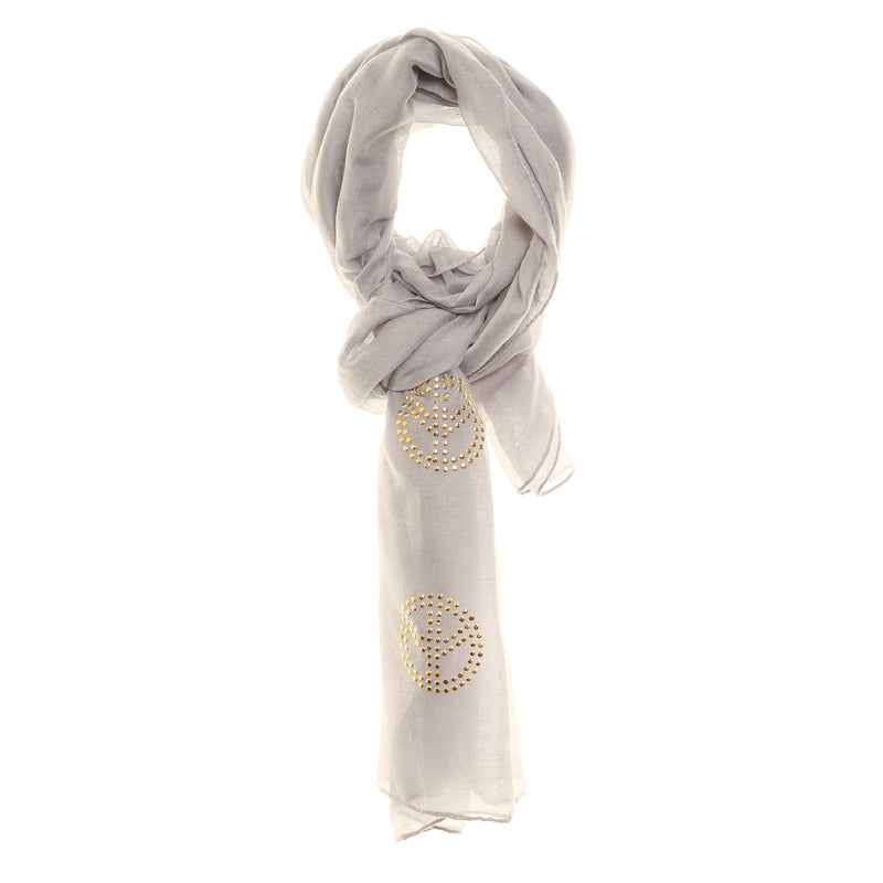 Jewelled Scarf Grey