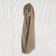 Load image into Gallery viewer, Soft Sand Thistledown Cashmere Stole