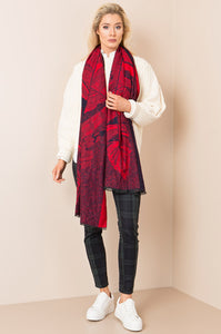 Cecilia Scarf Red - Scattee