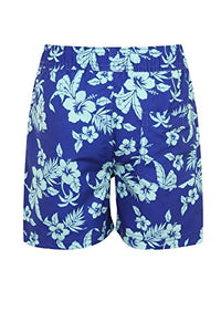 Blue and Aqua Hibiscus Swimming Shorts - Scattee