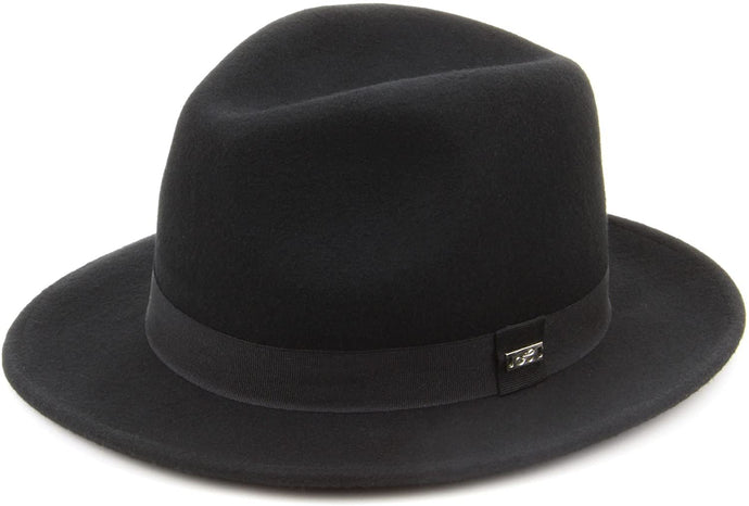 Wool Felt Fedora hat Black