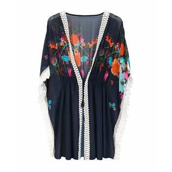 Crochet Floral Loreto Beach Cover Up