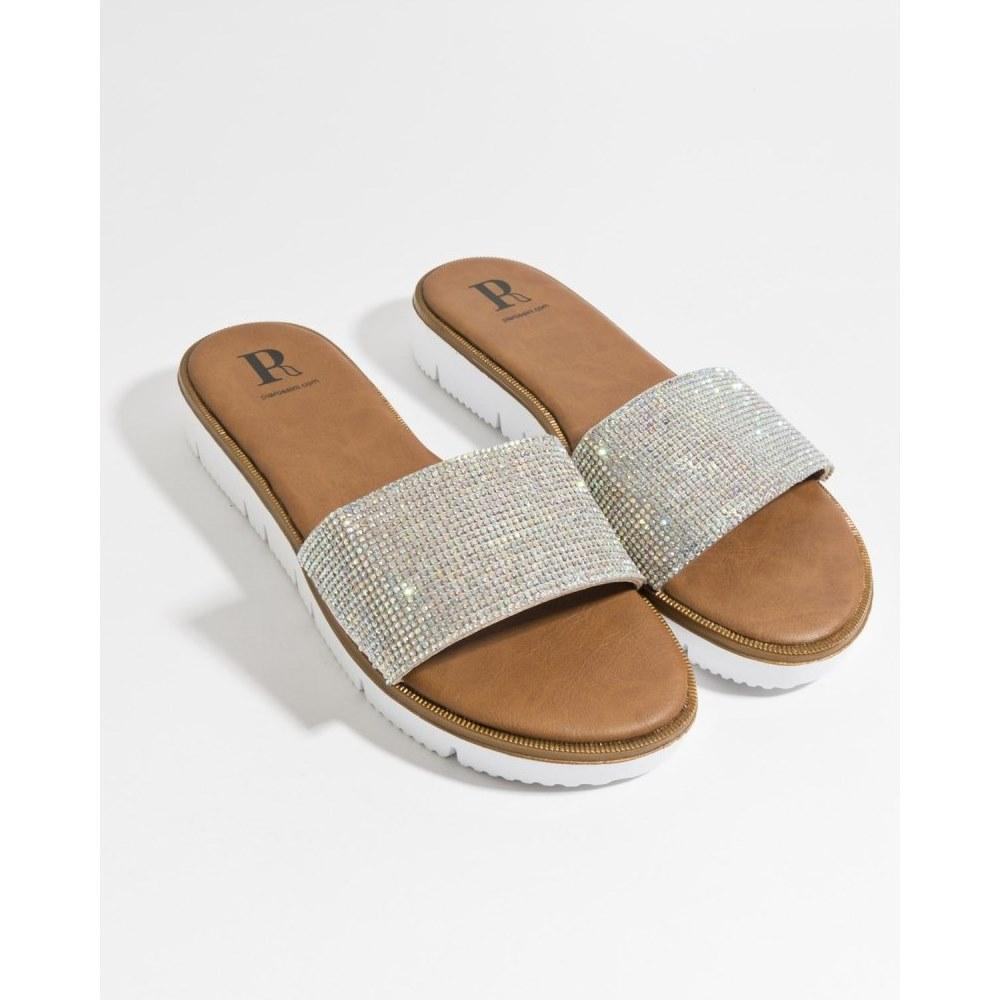 Aisha Sandal Rose Gold, Silver, Black