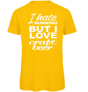 Craft Beer vs Running T-Shirt - Scattee