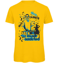 Load image into Gallery viewer, Addicted to Music Retro T-Shirt - Scattee