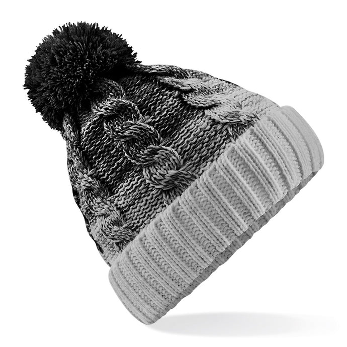 Ombré Beanie Black Silver - Scattee