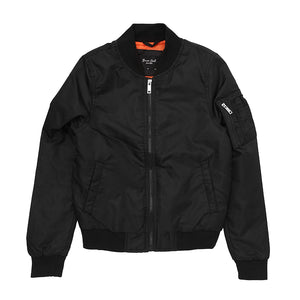 Retro Bomber Jacket Black - Scattee