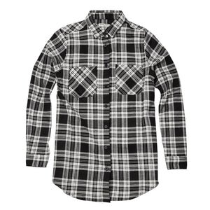 Vivary Long Sleeve Check Shirt Black White - Scattee
