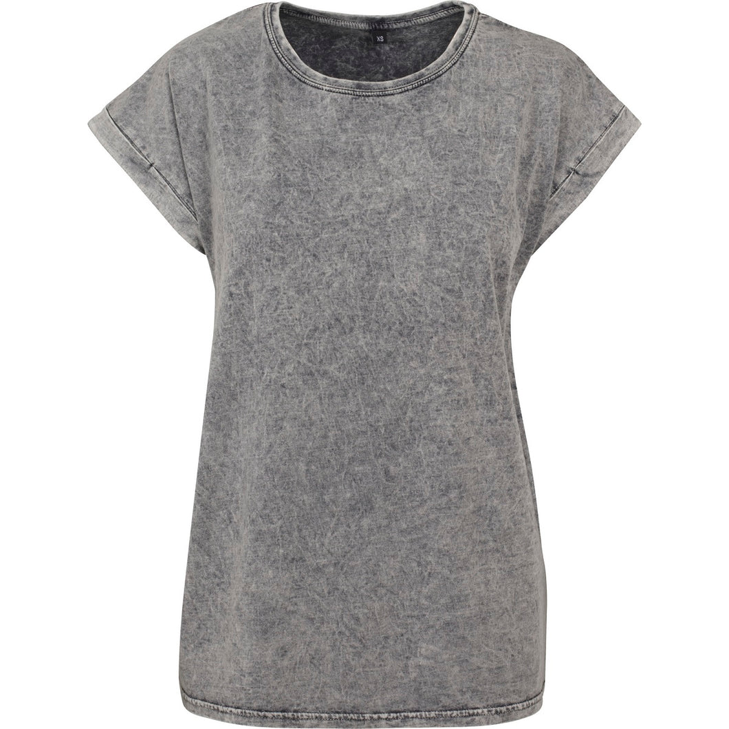 Acid washed cotton tee Grey Black - Scattee