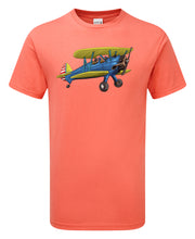 Load image into Gallery viewer, Boeing Stearman Cartoon T-Shirt - Scattee