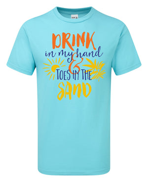 Drink In My Hand Toes In The Sand T Shirt - Scattee