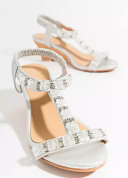 Summer Crystal Gem Arielle Sandal White