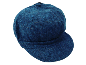 Ladies 60's Retro Baker Boy Hat Navy - Scattee