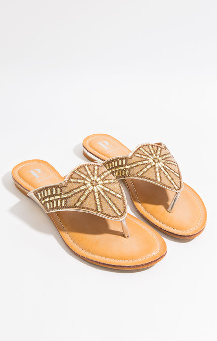Stunning Summer Diamante Este Sandal Gold