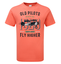 Load image into Gallery viewer, Old Pilot's Fly Higher T-Shirt