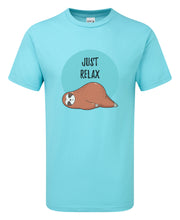 Load image into Gallery viewer, Sloth Just Relax T-Shirt