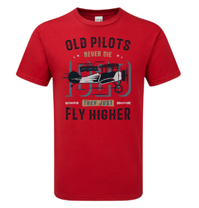 Old Pilot's Fly Higher T-Shirt