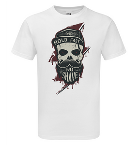 Lightning Skull Beard T-Shirt - Scattee