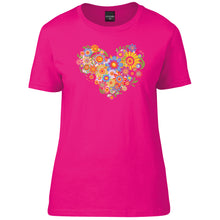 Load image into Gallery viewer, Gorgeous Floral Heart T-Shirt
